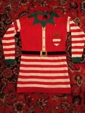 New Directions Jingle Bells Elf Gingerbread Man Christmas Sweater M Not Ugly EUC