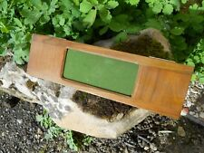 Ancien châssis porte plaque panoramique en bois appareil photo fin XIXe