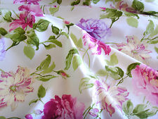 Tessuto STOFFA coupon ARREDAMENTO ROSE tessuto inglese rose peonie 50 x 140cm