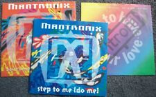 """MANTRONIX 3 x UK 7"""" PIC SLEEVES ALL EX Electro House Step To Me / Have Your Love"""