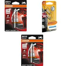 H11 12V 55W Night Racer 110 bis 110% 2St OSRAM + W5W Vision Philips