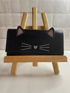 New Kitty/Cat Wallet Black