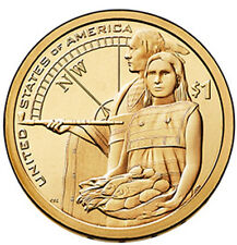 2 coins set 2014 P & D Native American Sacagawea Dollar $1 from US Mint Rolls