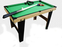 D06 Wooden Kids Pocket Toy Billiard Ball Snooker Pool Table Home Fun Game 50CM