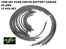 # 2 Awg Hd Golf Cart Battery Cable 13 pc Black 1998 48V Club Car Ds Set U.S.A