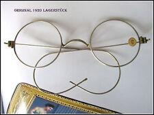 Runde Brille 12 cm breit - Exzellente Feder Bügel Optiker Nachlass 1920 Lagerst.