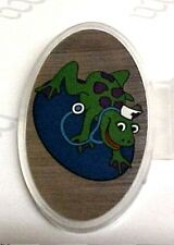Stethoscope ID Name Tag Nurse Frog on Lily Pad Single Sided Domed Face New