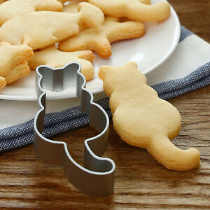 1 PC Kitchen Tool Aluminium Cookies Cutter For Cake Decorations Cute Cat Shaped
