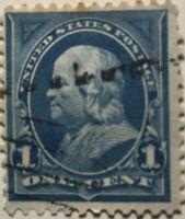 Scott #264 US 1895 1 Cent Ben Franklin Postage Stamp LH