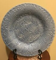 "Neiman Marcus Blue 12"" Dinner Plate Charger Porcelain Leaf Pattern Portugal"