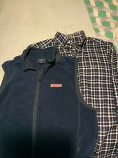 Vineyard Vines Men's Clothing - 1 Button Down Shirt plus 1 Sherpa Vest
