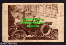 119042 AK Flensburg 1921 2 Kinder im Auto Automobil Oltimer Fotokarte