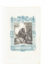 1852 Grabado, San Rosendo Obispo