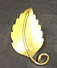 Reget  Gold Tone Leaf Pin Marked