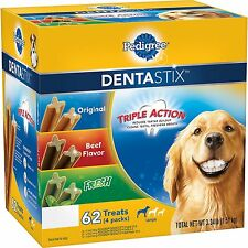 Pedigree DentaStix Dog Treats Variety Pack 3.34 lbs Healthy And Great 62 ct