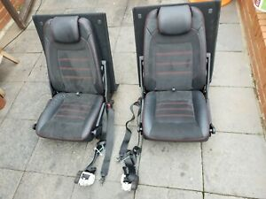 FORD S-MAX TITANIUM X SPORT   REAR SEATS WITH SEAT BELTS  AND FITTING BOLTS.