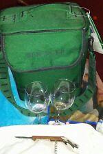 New listing Beringer wine cheese cooler glasses corker opener ice pack nwt hunter green