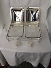 Double Chafing Dish Silver Plated