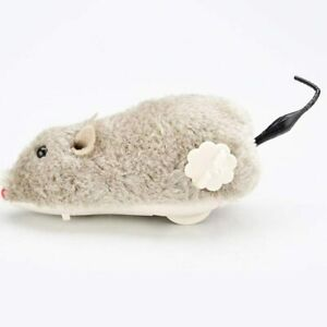 New Cat Kitten Play Wind Up Mouse Clockwork Joke Mice Rat Fun Furry Toy Kitty