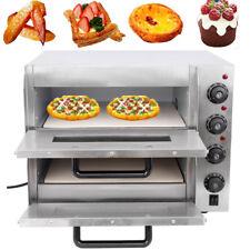 Four à Pizza 2 Chambres Camping Mini Four Barbecue électrique Grill de Rotissage