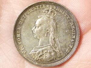 1887 Shilling  Victoria  Silver Coin HIGH GRADE #M54