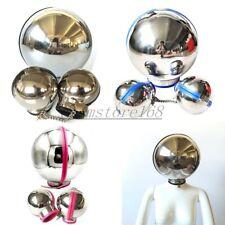 Stainless Steel Bondage Set Metal Ball Helmet Hand Cuff Neck Collar Restraints
