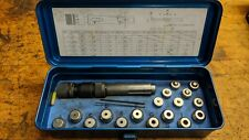 Punch press dimple die assortment and holder set 82 degree