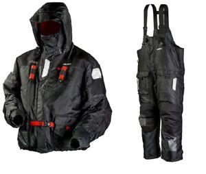 Frabill I-Float Jacket & Bib Ice Fishing Suit, Black, SM MSRP $600 Pant & Parka