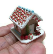 DOLLHOUSE MINIATURE CHRISTMAS GINGERBREAD HOUSE CANDY SWEET FOOD BAKERY HOLIDAY7