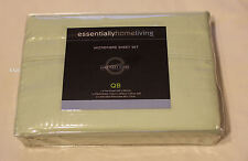 Essentially Home Living Pale Green Queen Bed Polyester Microfibre Sheet Set New