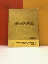 Heath Kit Transistorized Regulated Power Supply Model Ip 20 Assembly Manual
