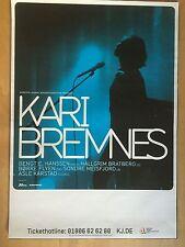 KARI BREMNES 2014 TOUR   ++  orig.Concert Poster - Konzert Plakat  NEU