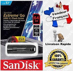 Clé USB 3.1 64 Gb SANDISK Extreme R200 W150 MB/s - Existe aussi en 128 ou 256 Go