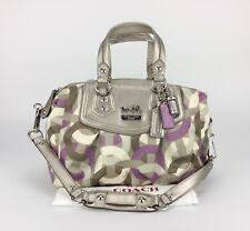 New COACH 14319 Madison OpArt Audrey Chainlink Signature 2-way Satchel Bag Purse