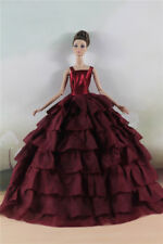 Fashion Party  Red Multilevel Dress Evening  Clothes/Gown For 11 inch. Doll