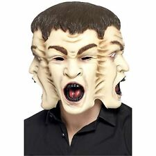 3 FACCIA MOSTRO Testa Piena Maschera Halloween Costume Accessorio Zombie Screaming Ghost