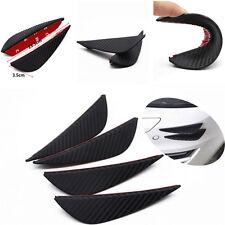 Car Rubber Carbon Fiber Style Front Bumper Fins Lip Canards Splitters 3M Sticker