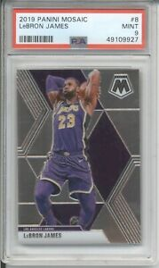 2019 Panini Mosaic LEBRON JAMES #8 PSA 9 MINT Lakers Basketball Card