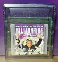 Who Wants be Millionaire Nintendo Game Boy Color GB Rare TESTED GBA Advance GBC