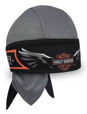 Harley-Davidson Men's Velocity Perforated Headwrap, Charcoal & Black HW31480