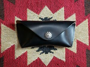 Double RL RRL Ralph Lauren Black Eyeglass Leather Case