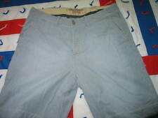 Abercrombie & Fitch Men's Sz 36 Striped Casual Shorts Blue and White