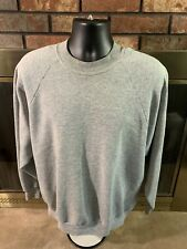 Vintage Crewneck Sweatshirt Gray Raglan VTG USA 1980s Mens Size XL EUC
