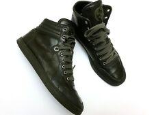 Men Gucci Shoes Hi-Top Classic Army Green GG Logo Sneakers - uk8 27cm - RRP 760$