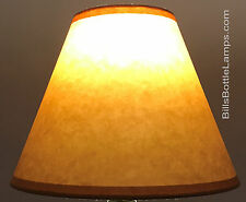 "Rustic Cottage Table Light LAMP SHADE Oil Kraft Clip-On Bulb Style 9"" inch Cone"