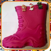 Childrens Girls Pink Paw Patrol Durable Wellies Boots Shoes Kids Size 12 EU30