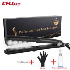 CHJpro Steam Hair Straightener Argan Oil Vapor Ceramic Flat Iron Styler Straight