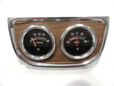 New Vintage 1970's Aftermarket Gauge Cluster - Oil / Ampres - Muscle Car