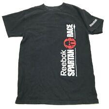 Reebok Spartan Race Finisher Shirt Size Small S Black Tee Short Sleeve Adult RBK