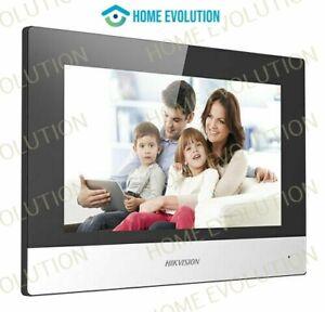 """Hikvision DS-KH6320-WTE1G """"7"""" videocitofono Stazione interna basata su IP grigio"""